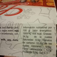 Pastas inglesas de limon - Información nutricional - es