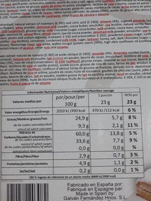 SURTIDO SELECCION - Información nutricional