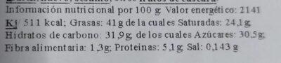 Huevos de chocolate - Información nutricional - es