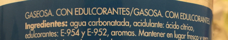 Limonade La Casera 0% - Ingredientes - es