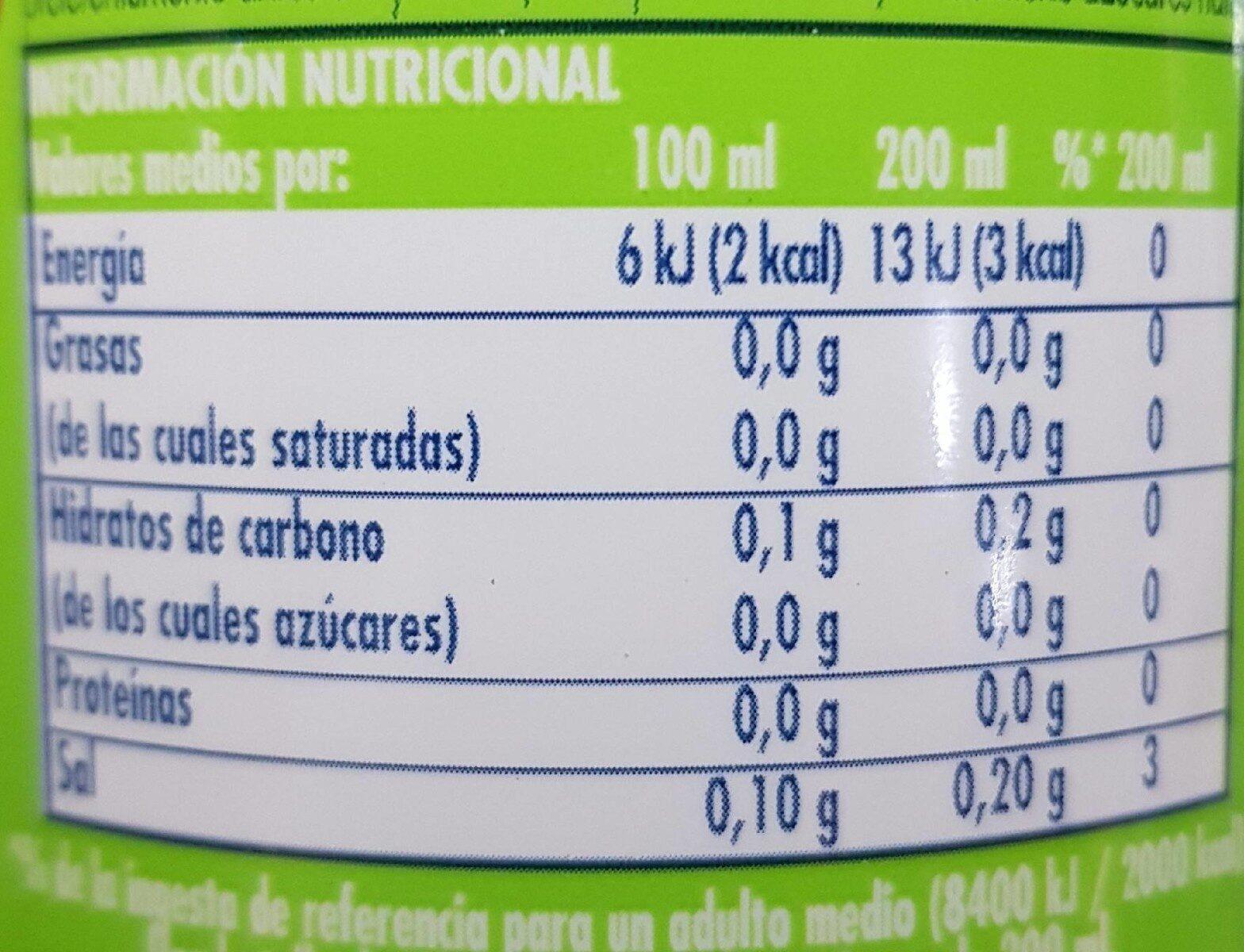 la casera sabor limón - Información nutricional - es