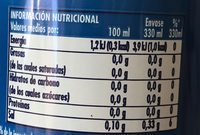 La Casera-lemon-lime (diet)-330ml-gaseosa Cero Calorãa-spain - Voedigswaarden