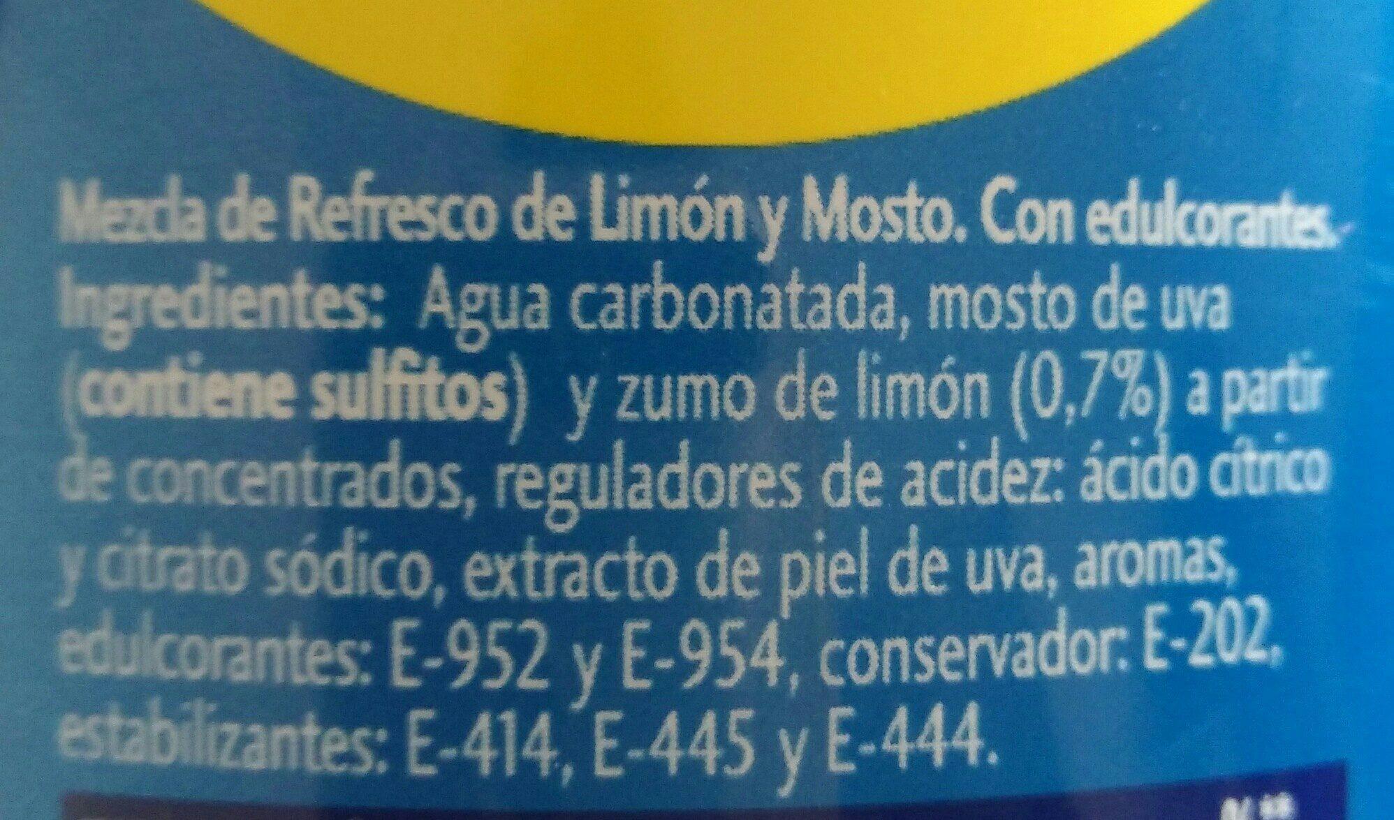 Tinto de verano con refresco de limón sin alcohol - Ingrédients - es