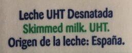 Leche Desnatada - Ingrédients - es