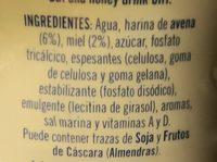 Bebida de avena y miel - Ingrédients - fr