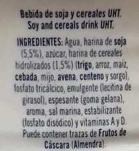 Bebida de soja - Ingredientes - es