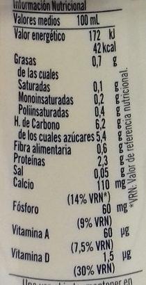 soja cereales caramelizados - Información nutricional