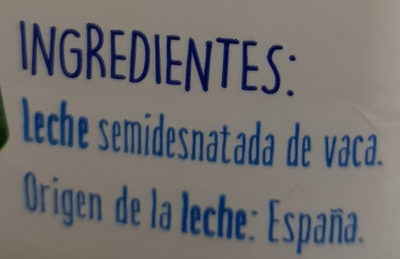 Leche semidesnatada - Ingredients - es