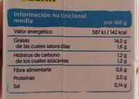 Alpro Cocina - Nutrition facts - es