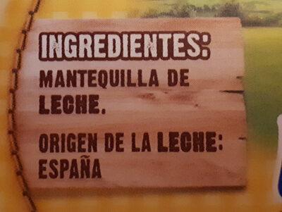 Mantequilla - Ingredients - es