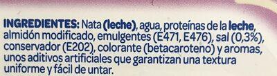 Mantequilla ligera Sin Lactosa - Ingrédients