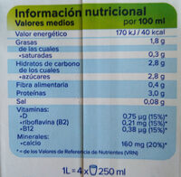 Bebida de soja Original - Nutrition facts - es