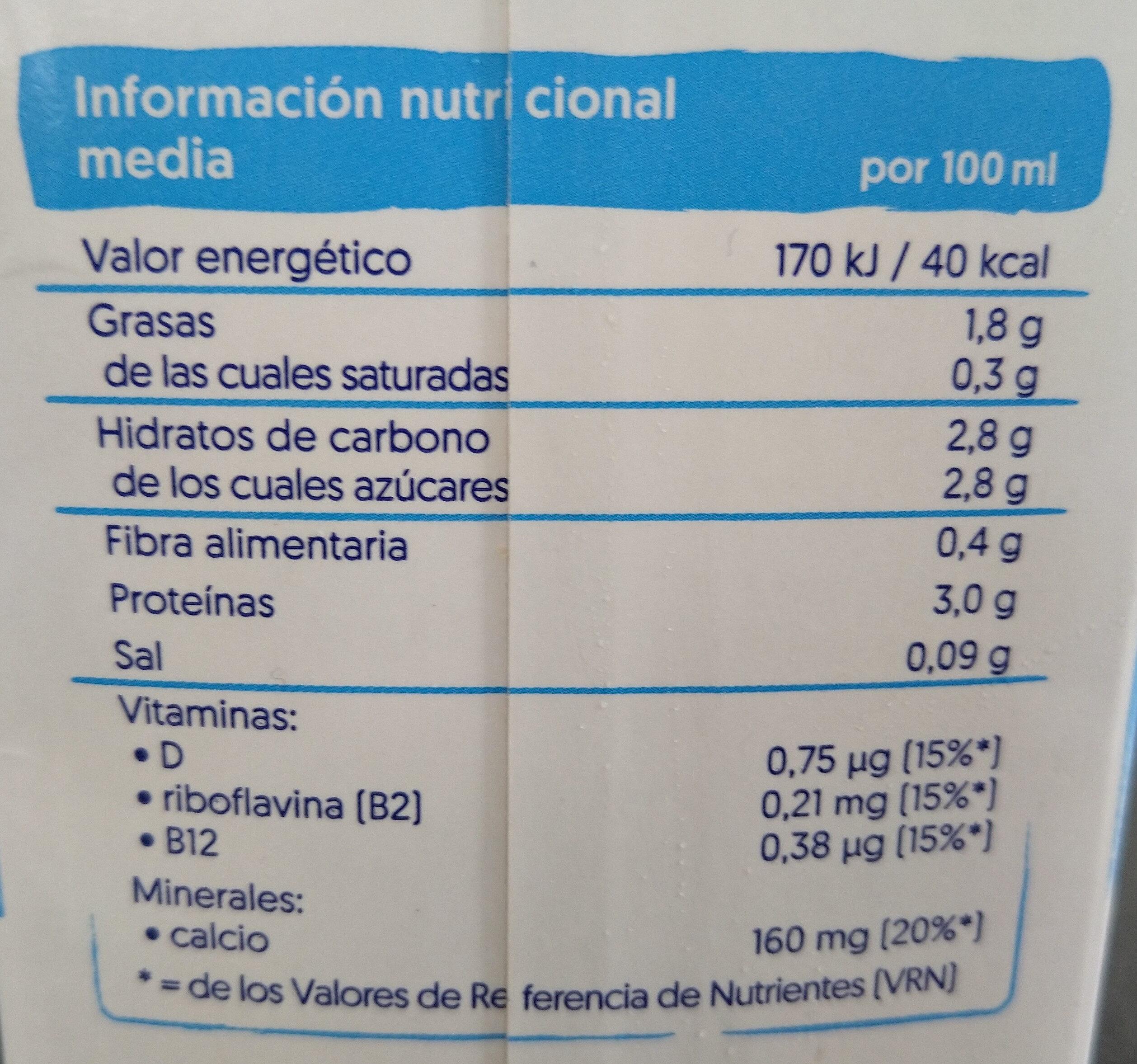 Alpro soja - Nutrition facts - es