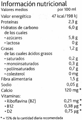Bebida de soja chocolate ligera - 1