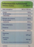 Bebida de avena Original - Nutrition facts