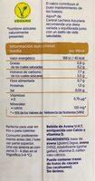 Avena original - Información nutricional - es
