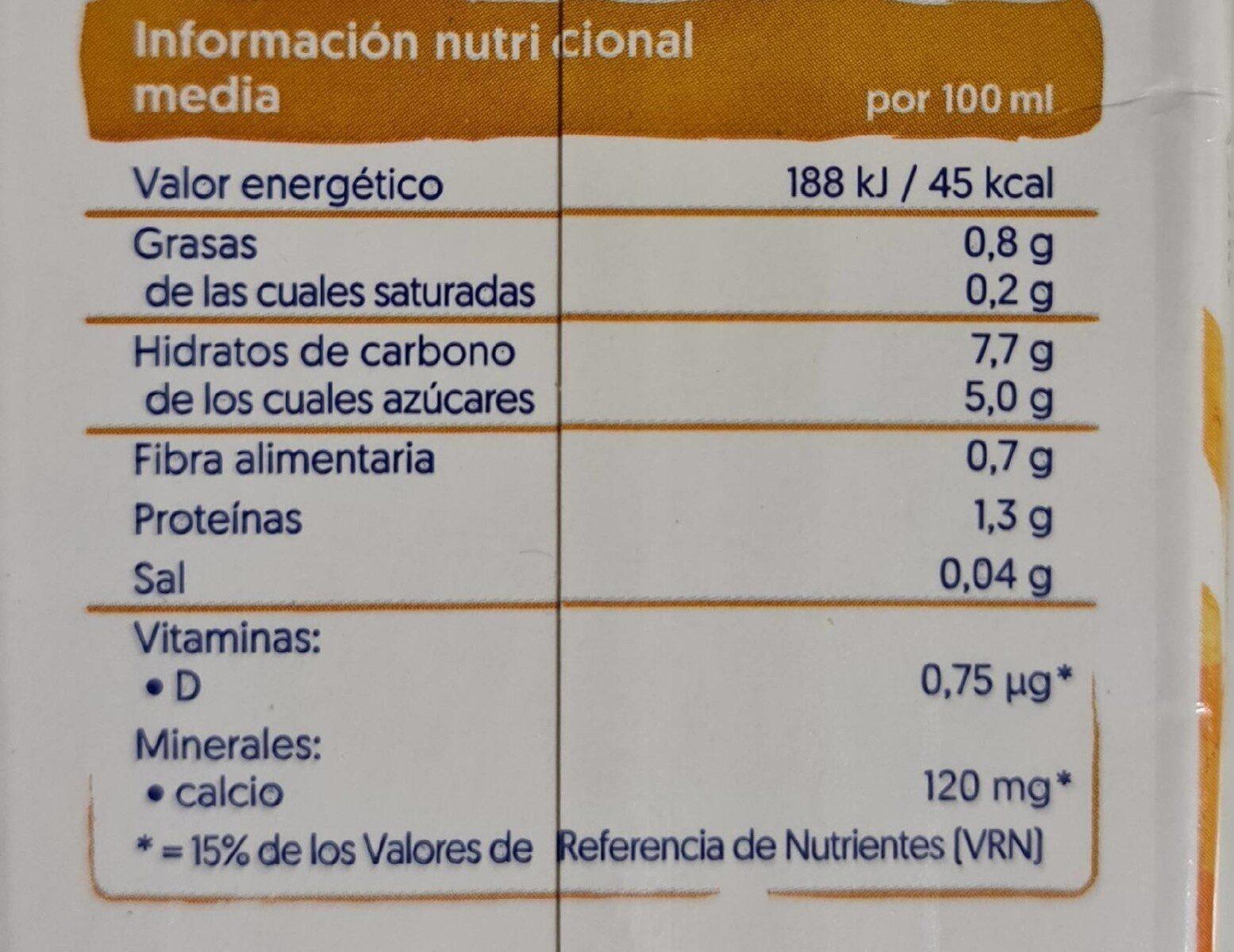 Avena 100% vegetal sin azúcar añadido - Informations nutritionnelles - es