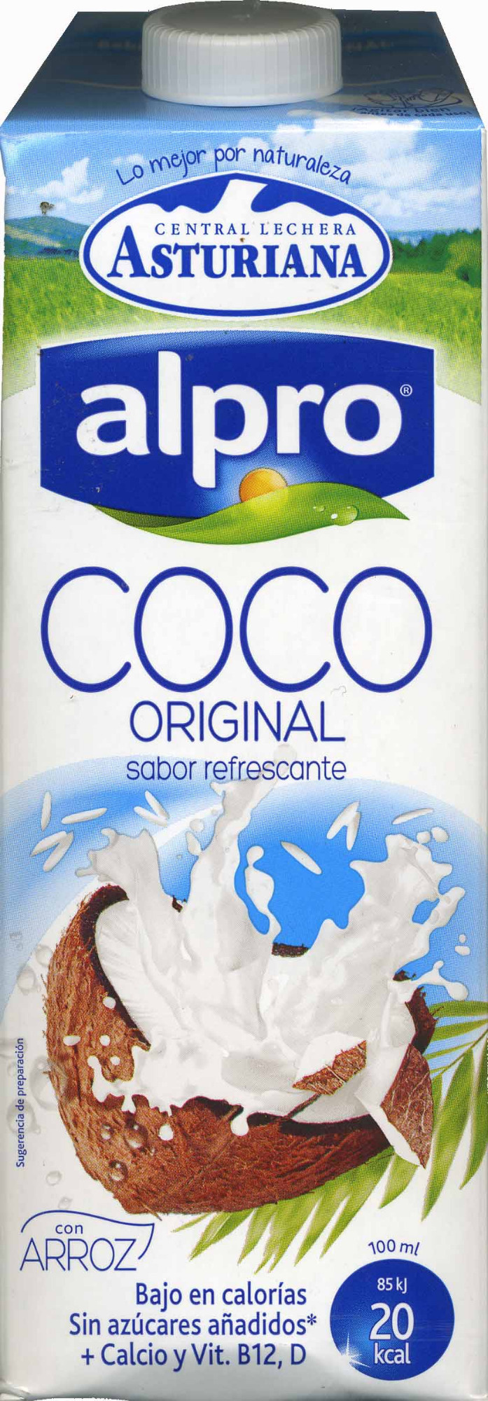 Bebida de coco sin azúcares añadidos bajo calorías - Produit - es