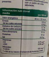 Alpro coco - Informação nutricional - es