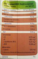 Bebida de almendras sabor chocolate - Información nutricional - es