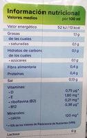 Bebida de almendras sin azúcar con antioxidante - Informació nutricional