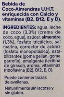 Bebida de Coco Almendras - Ingrediënten