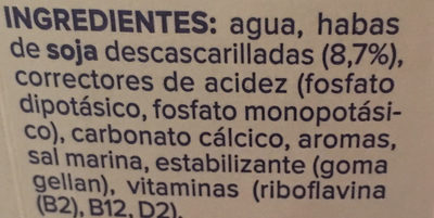 Soja sin azúcar - Ingredients