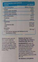 Soja sin azucar - Información nutricional - es