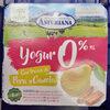 yogur 0% con trozos de pera y Canela - Producto