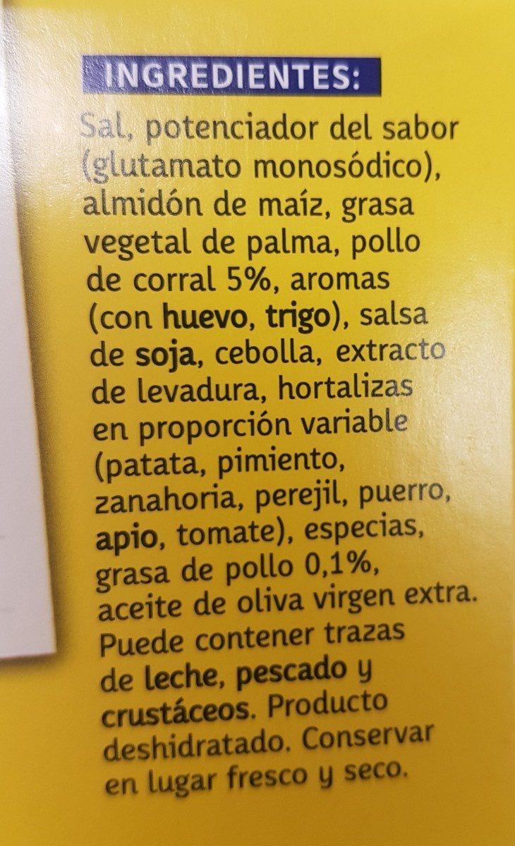 AveCrem pollo - Ingredients