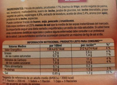 sopinstant - Ingredients