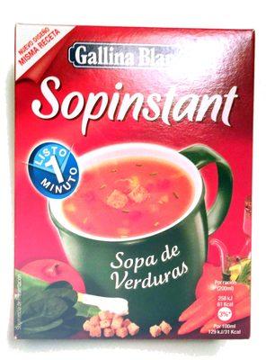 Sopinstant sopa de verduras 3 sobres estuche 60 g - Producto
