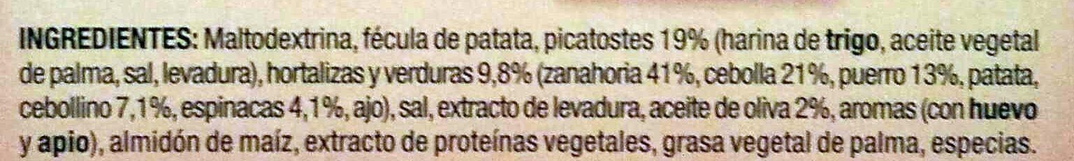 Sopinstant sopa de verduras 3 sobres estuche 60 g - Ingredientes