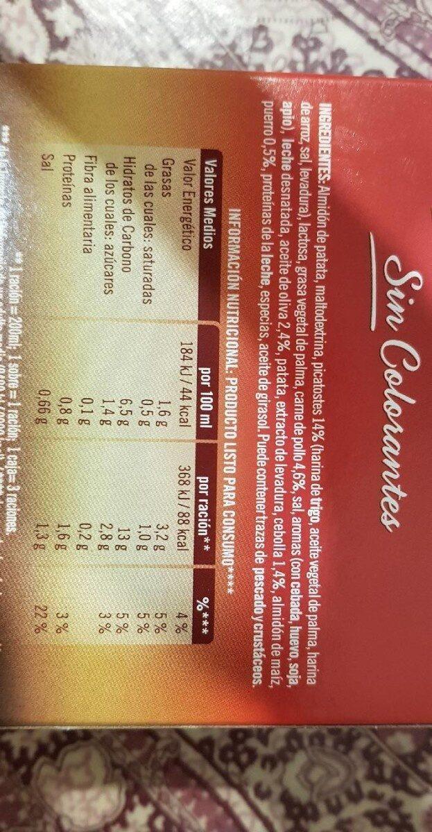 Gallina Blanca - Cream Of Chicken & Croutons Soup X 3 / 63G - Información nutricional - es