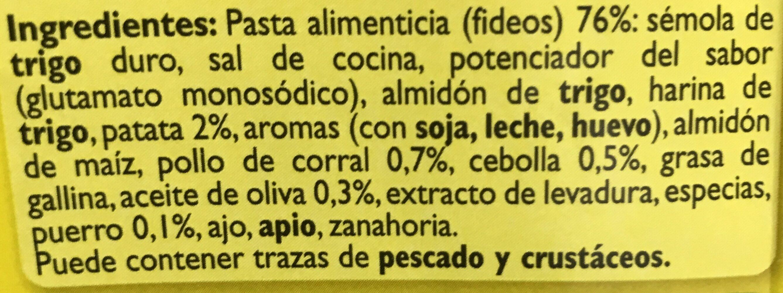 Sopa De Ave Con Fideos - Ingredientes - es