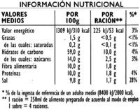 Soupe jardiniere - Nutrition facts - es