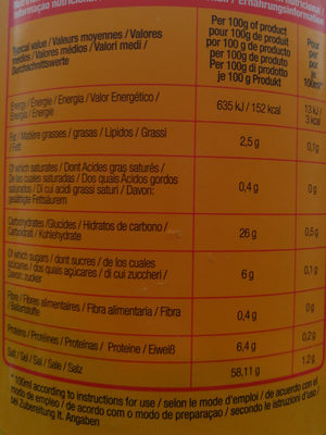Chicken Stock Powder - Voedingswaarden - fr