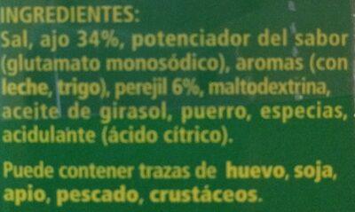 Sazonador ajo y perejil granulado - Producto