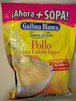 Sopa pollo fideos finos - Producto - es