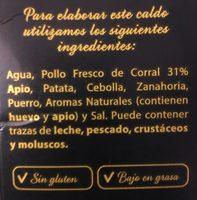 Caldo Casero G.blanca Pollo Corral 1LITRO - Ingredients