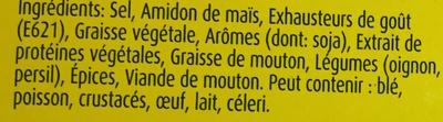 Bouillon Mouton - Ingredients