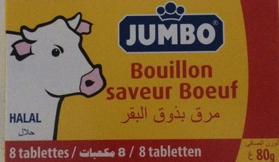 Jumbo Bouillon Boeuf Hallal x8 - Product