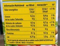 Caldo casero de verduras - Informations nutritionnelles - es