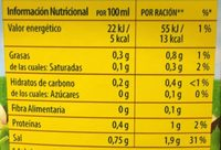 Caldo casero de pollo - Nutrition facts