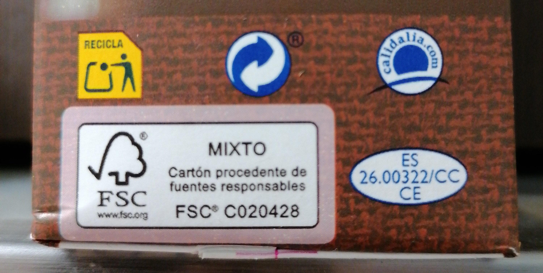 Caldo de pollo casero 100% natural envase 1 l - Instrucciones de reciclaje y/o información de embalaje - es