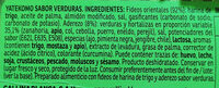 Yatekomo fideos orientales instantáneos con verduras listos en 3 minutos vaso 59 g - Ingredients