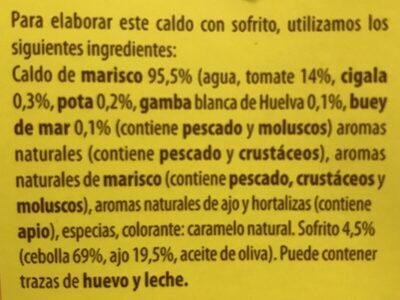 Brou Casolã Per Fideuã Gallina Blanca - Ingrédients