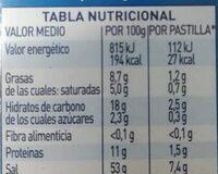 Avecrem Caldo Para Paella De Pescado - Informació nutricional