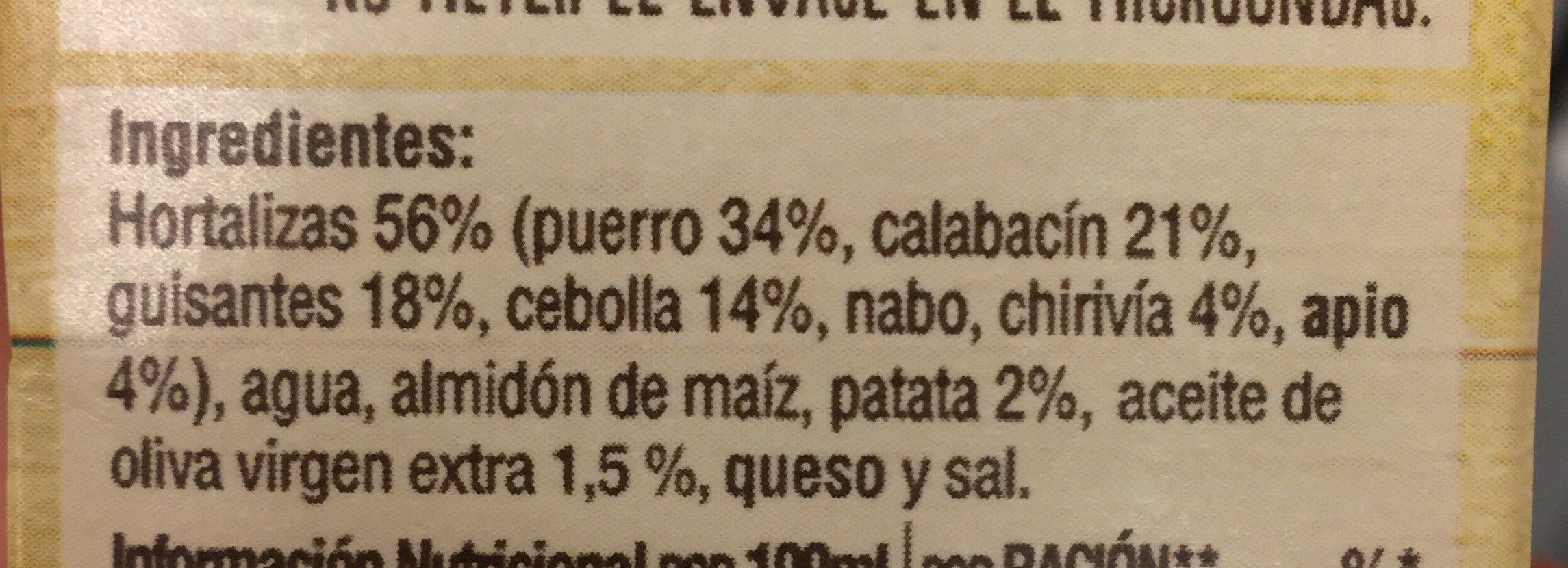 Crema casera 7 verduras - Ingredients - es
