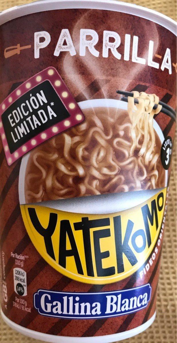 Yatekomo fideos orientales instantáneos parrilla vaso 80 g - Produkt - fr